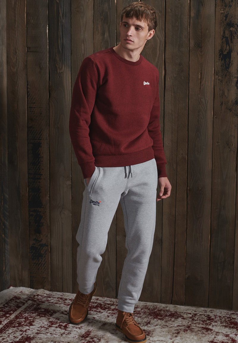Superdry - Tracksuit bottoms - grey marl