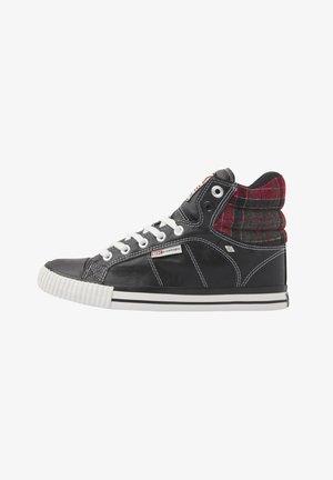 SNEAKER ATOLL - Sneaker high - black/red checker
