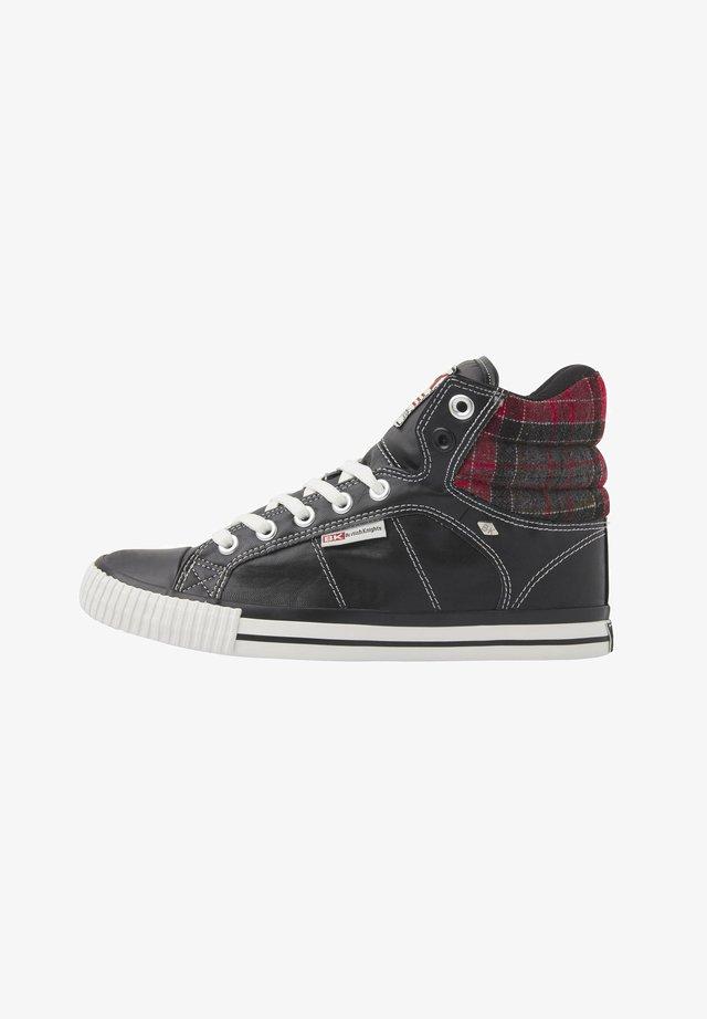 SNEAKER ATOLL - Korkeavartiset tennarit - black/red checker