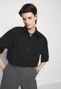 MM6 Maison Margiela - Button-down blouse - black - 3