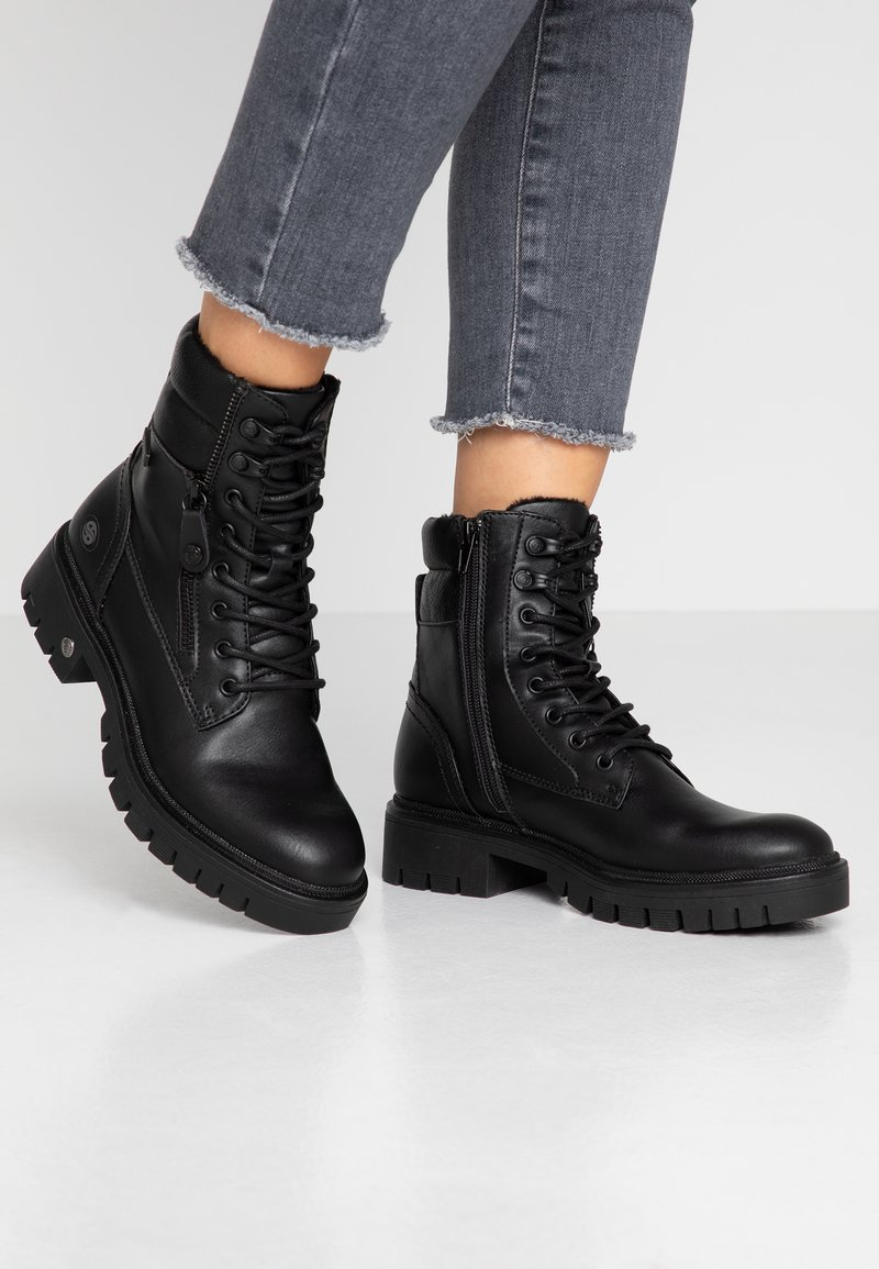 Dockers by Gerli - Lace-up ankle boots - schwarz