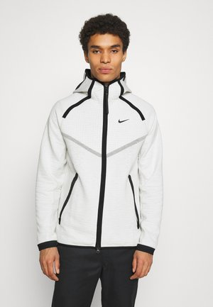 HOODIE  - veste en sweat zippée - light bone/black