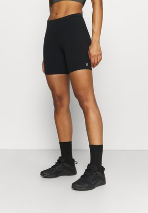 POWER WORKOUT SHORTS - Leggings - black