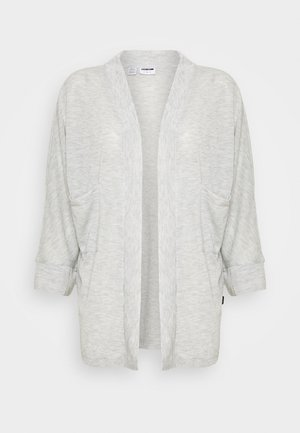 NMMOLLY CARDIGAN - Cardigan - light grey melange