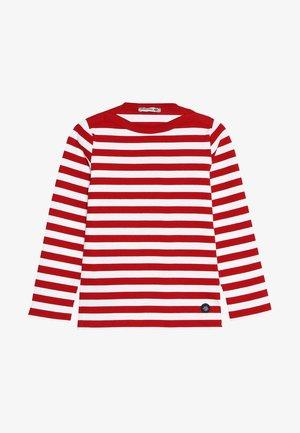 MARINIÈRE TRÉGUNC KIDS - Long sleeved top - braise/blanc