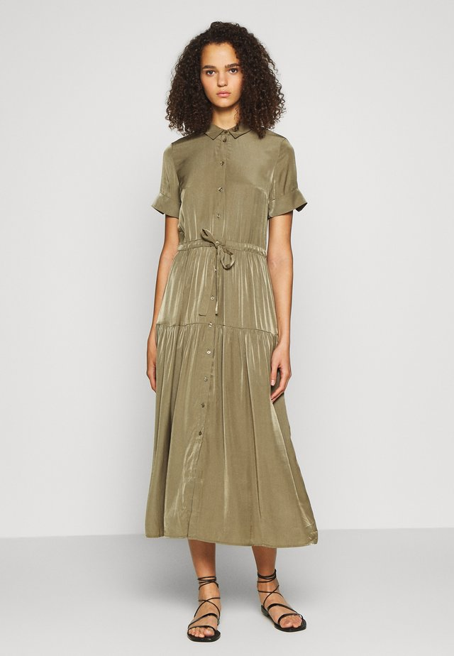 OBJNIBIA SHIRT DRESS  - Maxi-jurk - burnt olive