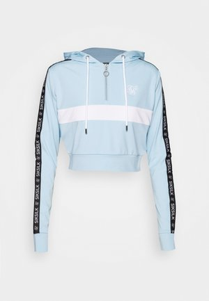 SKY TAPE TRACK TOP - Mikina s kapucí - light blue