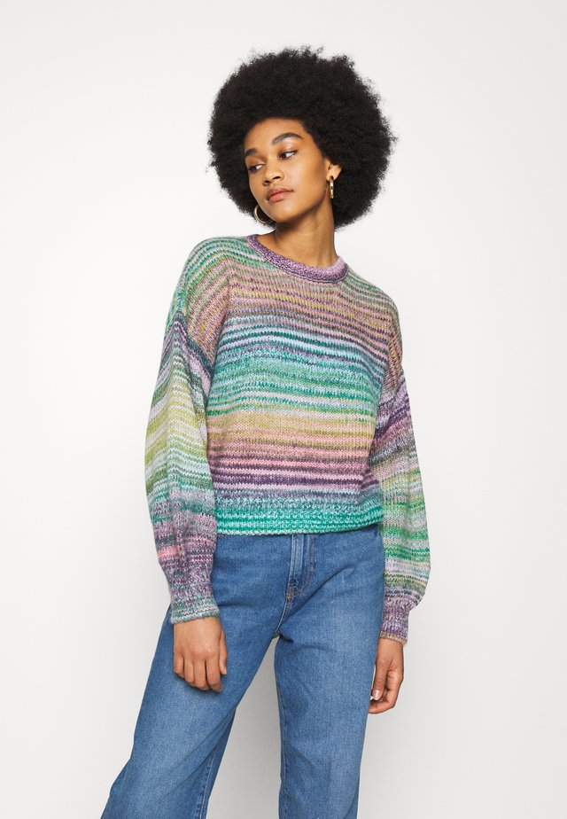 BIG SKY CREW SWEATER - Strikkegenser - blue