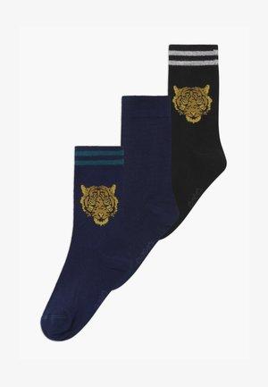TIGER VARSITY  3 PACK - Socks - navy/schwarz