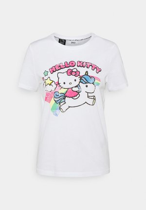 ONLHELLO RAINBOW  - T-shirt print - white