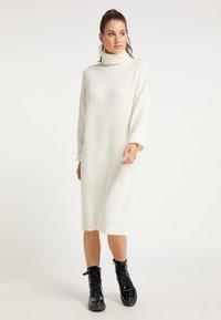 myMo - Gebreide jurk - weiß - 0