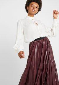 Marella - SUPER - A-line skirt - bordeaux - 3