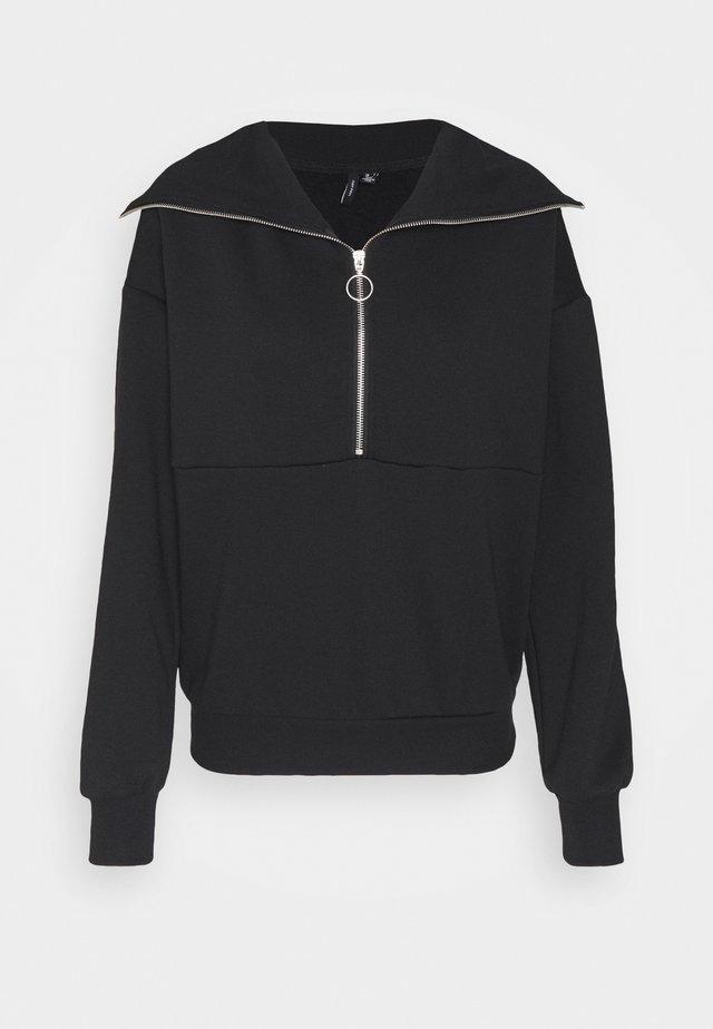 VMNATALIE ZIPPER - Sweatshirt - black