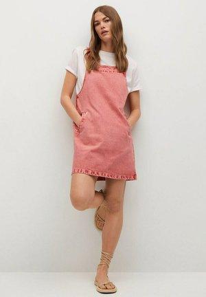BOLSILLOS - Denim dress - rosa