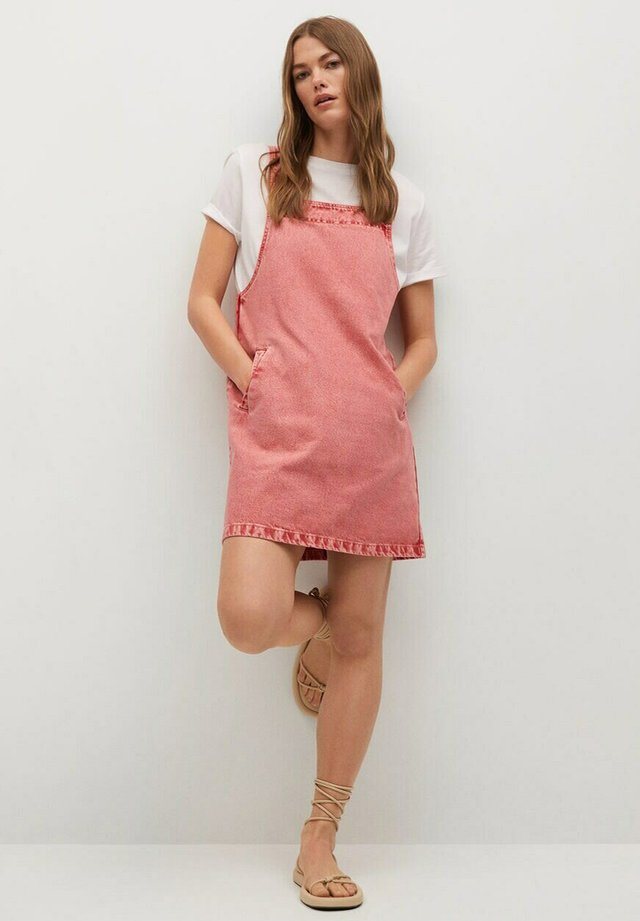 BOLSILLOS - Vestido vaquero - rosa