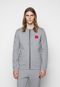 HUGO - DAPLE - Zip-up hoodie - silver - 0