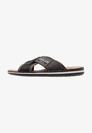 Pantofle - schwarz/anthrazit