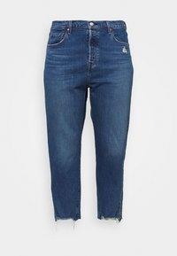 501® CROP - Jean slim - dark blue denim