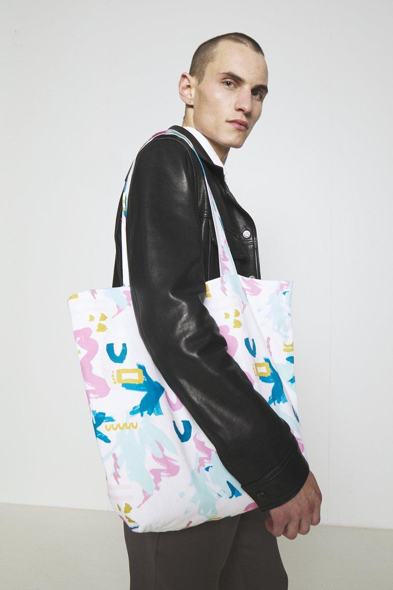 STUDIO ID - TOTE BAG M  - Tote bag - multi-coloured/light pink