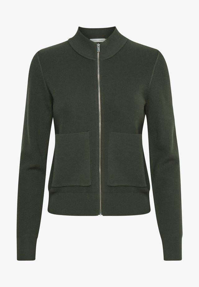 HOYA CARDIGAN - Vest - beetle green