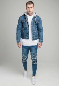 SIKSILK - JACKET WITH DETACHABLE HOOD - Spijkerjas - blue denim - 1