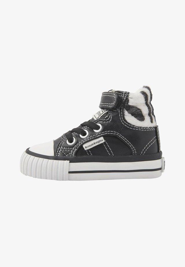 ATOLL - High-top trainers - black/zebra