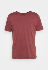 BRACE CONTRAST CREW - Basic T-shirt - tuscan red