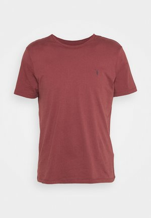 BRACE CONTRAST CREW - Basic T-shirt - tuscan red