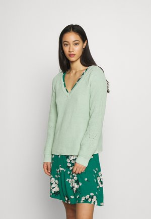 VIMYNTANI POINTELLE - Sweter - cameo green