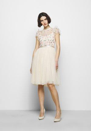 ROCOCO BODICE MIDI DRESS - Cocktail dress / Party dress - champage