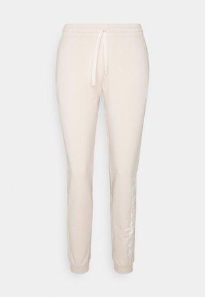 CUFF PANTS - Teplákové kalhoty - beige
