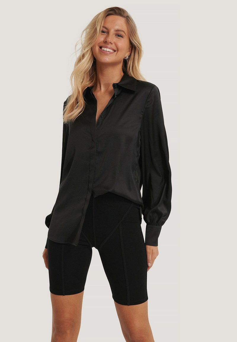 NA-KD - Button-down blouse - black