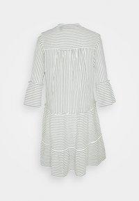 Vero Moda Tall - VMHELI 3/4 SHORT DRESS TALL - Day dress - snow white/laurel wreath - 1