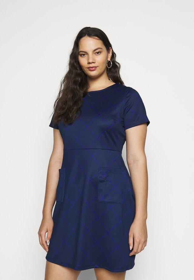 POCKET SHIFT - Day dress - navy