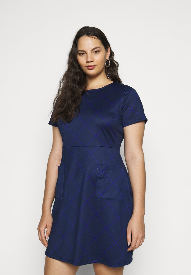 CAPSULE by Simply Be - POCKET SHIFT - Kjole - navy