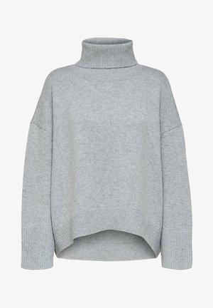 SLFMINO BOXY - Trui - light grey melange