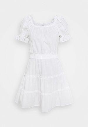OFF SHOULDER MINI DRESS - Day dress - white