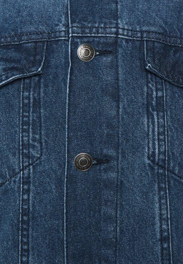 Nerve NEADAM JACKET - Kurtka jeansowa - dark blue/niebieski denim Odzież Męska DEXU