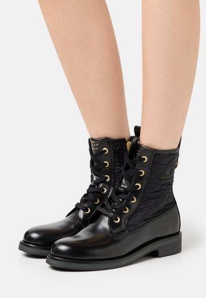 MALIIN MID LACE BOOT - Lace-up ankle boots - black