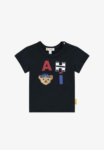 AHOI - Print T-shirt - steiff navy