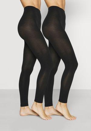 WOMEN THERMO LIGHT 2 PACK - Leggings - Stockings - black