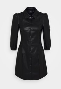 Vero Moda - VMBUTTERMOLLY ABOVE KNEE COATED DRESS - Day dress - black - 0