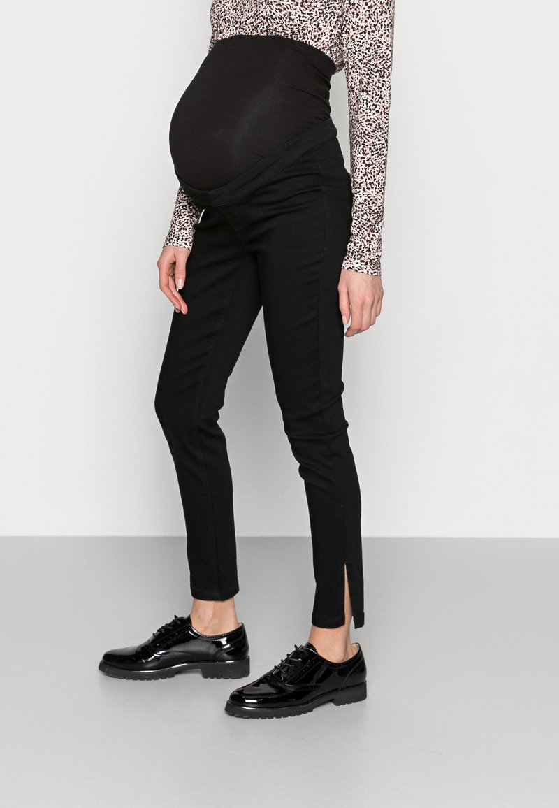 Missguided Maternity - SPLIT HEM VICE - Jeans Skinny Fit - black
