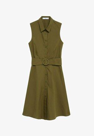 CRIS-H - Vestido camisero - olivengrün