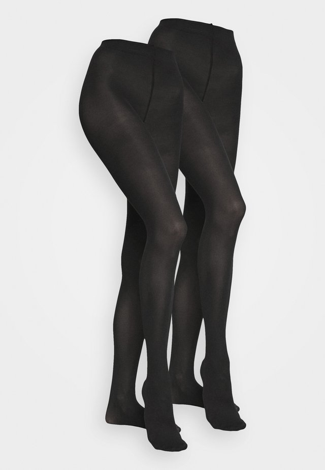 TIGHTS 2 PACK - Tights - black dark