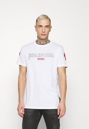 ADEN TEE UNISEX - Print T-shirt - white