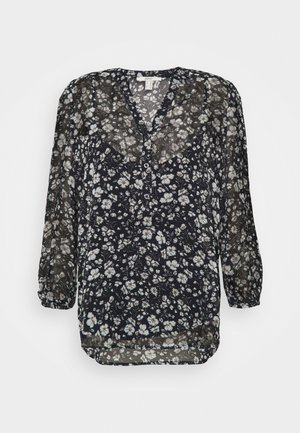 CRINKLE - Long sleeved top - navy