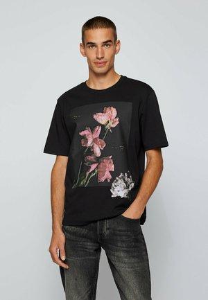 TFLOWER - T-shirt imprimé - black