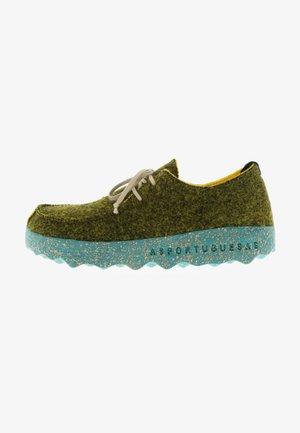 Casual lace-ups - grün