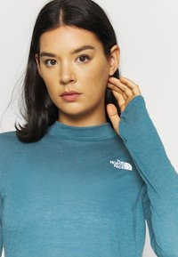The North Face - W ACTIVE TRAIL WOOL L/S - Funktionsshirt - mallardblueheather - 4